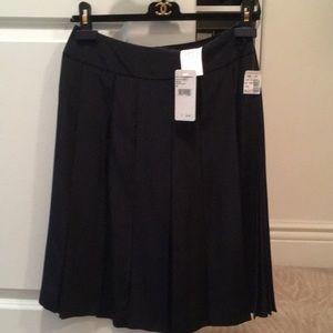 Chanel silk pleated skirt